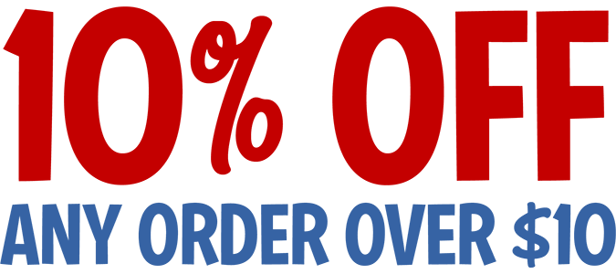 10% Off Any Order Over $10 CODE: 10WS